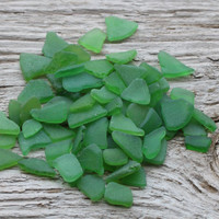 Tiny Green Sea Glass Bulk Sea Glass For Sale 70pcs