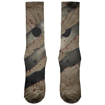 DCCKU3R Halloween Horror Movie Mask Slasher Attack All Over Soft Socks