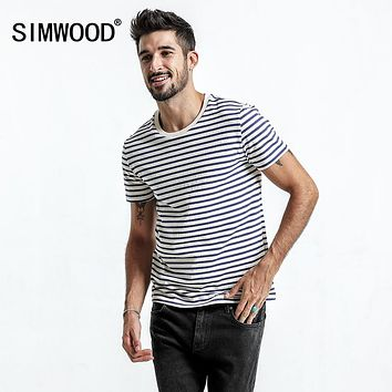 SIMWOOD New Slim Fit Striped Breton Top Vintage T- Shirt