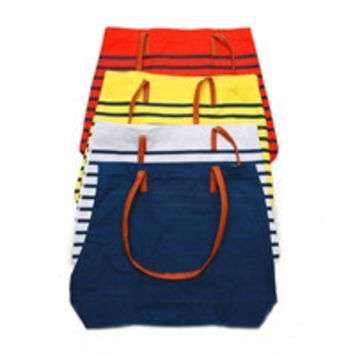 Striped Nautical Tote in Yellow