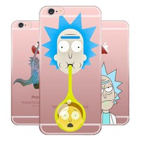 Rick And Morty Soft TPU Silicone  Case Cover For Apple iPhones