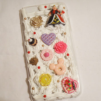 Kawaii phone case, Iphone 6 phone case, Disney phone case, Queen of hearts, lolita phone case, cute cabochon phone case, kawaii iphone 6