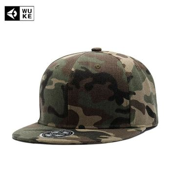 Trendy Winter Jacket [WUKE] Brand High Quality Camouflage Baseball Cap Flat Hip Hop Hats For Men Women Camo Snapback Bones Hat Gorras Casquette AT_92_12