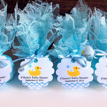 20x Baby shower candles, personalized blue lace covered baby shower votive candles