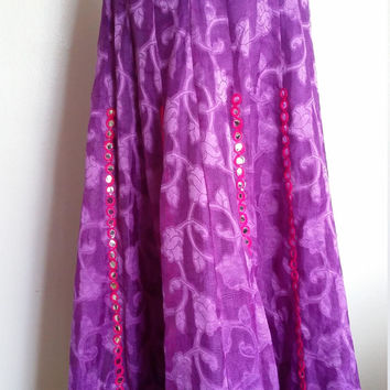 Mirror skirt, S, M, L, XL, boho skirt, festival skirt, purple skirt, plus size skirt, hippie skirt, sequined skirt, summer skirt
