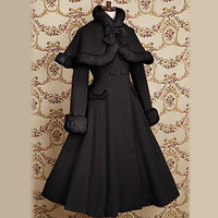[$89.99] Long Sleeve Velvet Princess Classic Lolita Coat with Bow