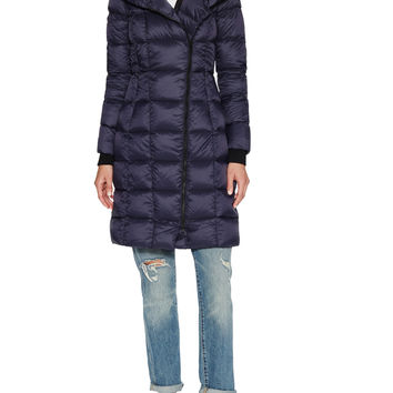 Soia & Kyo Women's May Quilted Standing Coat - Dark Blue/Navy -