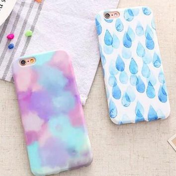 raindrop iridescent cloud cover case for iphone 5s 5se 6 6s plus gift 333 2