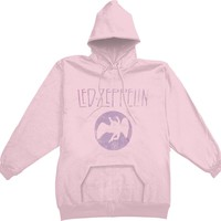 Led Zeppelin  Girls Jr Hooded Sweatshirt Pink Rockabilia
