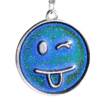 Mood-Changing Smiley Necklace