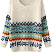 Tribal Print Knit Sweaters - OASAP.com