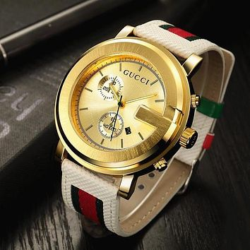 GUCCI Woman Men Fashion Quartz Movement Watch