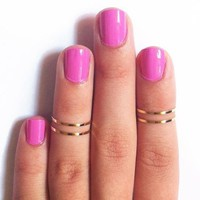 4PCS/Set Gold Above Knuckle Ring