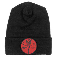 Don't Die // Red Patch // Knit Hat | ACTUAL PAIN
