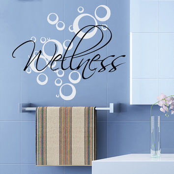 Wall Decals Wellness Bubbles Spa Beauty Salon Health Art Mural Home Interior Design Vinyl Decal Sticker Bath Bathroom Decor kk822