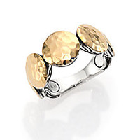 John Hardy - Palu 18K Yellow Gold & Sterling Silver Disc Band Ring - Saks Fifth Avenue Mobile