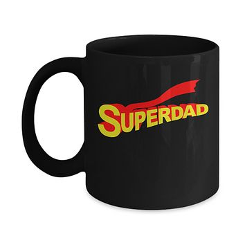 Superdad Super Hero Red Cape Father's Day Gift Coffee Mug