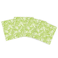 "Jacqueline Milton ""Vine Shadow - Lime"" Outdoor Placemat (Set of 4) - Outlet Item"