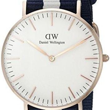 Daniel Wellington Women's 0503DW Glasgow Stainless Steel Watch With Multi-Color Band