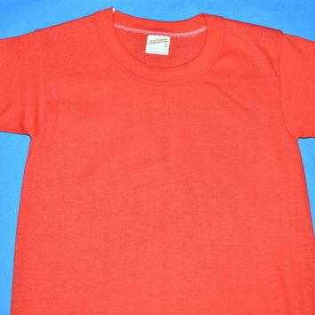 80s Red Blank 100% Cotton t-shirt Youth Small