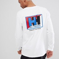 Sweet SKTBS x Helly Hansen Long Sleeve T-Shirt With Back Print In White at asos.com