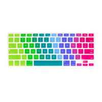 Rainbow Silicone MacBook Keyboard Cover