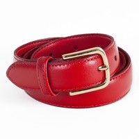 Unisex Basic Leather Belt | American Apparel