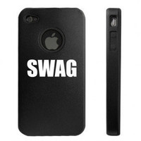 Black Apple iPhone 4 4S 4G Aluminum hard case D1814 Swag