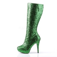 Lolita 300G Green Glitter Knee Boot