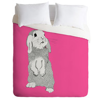 Casey Rogers Rabbit Duvet Cover