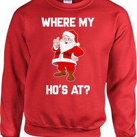 Funny Christmas Sweater Xmas Hoodie Santa Claus Holiday Pullover Christmas Jumper Xmas Gift Ideas Holiday Party Christmas Humor - SA706