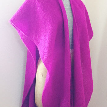 Vintage, 1960s,  Purple, Glentex, poncho, scarf, casmire, made in japan, shawl, wrap, open poncho, one size