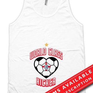 Soccer Pregnancy Announcement Tank Top Gifts For Expecting Moms Soccer Shirts For Mom English Soccer Fan American Apparel Tanks MD-645