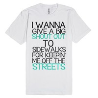 Sidewalks-Unisex White T-Shirt