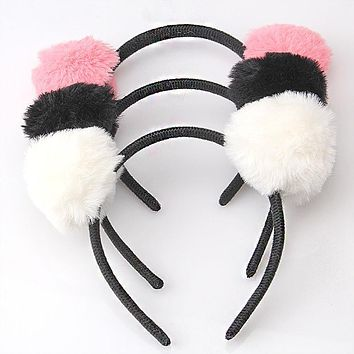 M MISM Girls Shaped Cat Ears Hair Clasp Headband For Women Hair Ornament Hair Band Ball Hair Hoop Girls Accessories