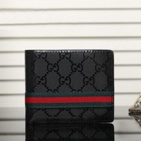 Gucci Leather Print Purse Wallet