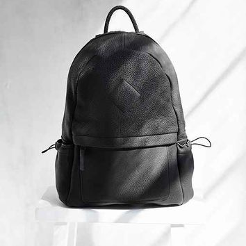 Aandd Westpack Pebbled Leather Backpack