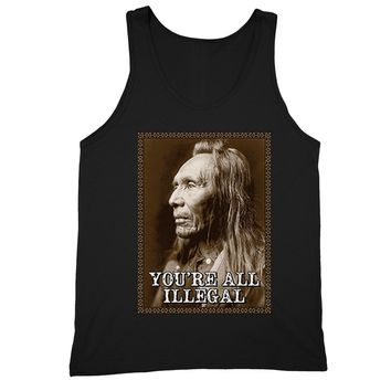 XtraFly Apparel Men's You're All Illegal Native 2nd Amendment Tank-Top