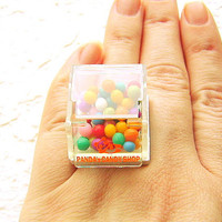 Kawaii Food Candy Ring by SouZouCreations on Etsy
