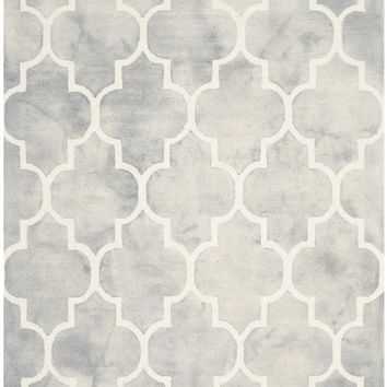 Dip Dye Contemporary Indoor Area Rug Grey / Ivory