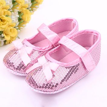 First Walker Baby Infant Sequin Infant Soft Sole Cotton Shoes Soft Bottom Shoes First Walker