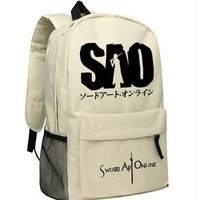 Sword Art Online Nylon SAO Logo School Backpack