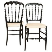Pair of Scalloped Back Chairs | Pieces