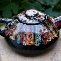 Wife gift Autumn gift|for|mother Teapot rainbow Fall gifts Ceramic teapot Pottery tea pot Stoneware teapot Anniversary gifts|for|couples
