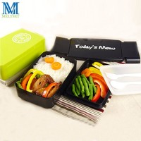 New Creative Bento Lunch Box Set With Spoon Fork Food Grade PP Food Container Microwave Dishwasher Safe Bento Box Kids