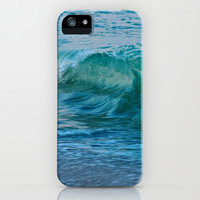 Crashing Wave at Dusk iPhone & iPod Case by Chris Klemens