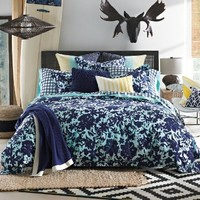 Tommy Hilfiger Palm Springs Floral Comforter Set, Full/Queen, Blue