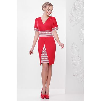 "Ukrainian dress ""Ivanna"" red"