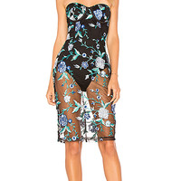 by the way. Lydia Embroidered Corset Dress in Blue Multi | REVOLVE