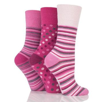 Non Binding Socks for Women in Pinks